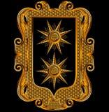 Marco medieval del vector del bordado de Goldwork libre illustration
