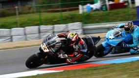 Marco MELANDRI 33 and Chris VERMEULEN 7. In Grand Prix Czech Republic Brno 2009 Stock Photo