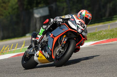 Marco Melandri Aprilia RSV4 1000 Factory SBK Aprilia Racing Team Imola SBK 2014 Stock Photos