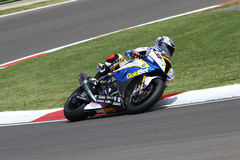 Marco Melandri #33 on BMW S1000 RR with BMW Motorrad GoldBet SBK Team Superbike WSBK Royalty Free Stock Photography