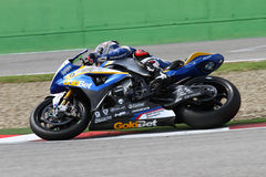 Marco Melandri #33 on BMW S1000 RR with BMW Motorrad GoldBet SBK Team Superbike WSBK Royalty Free Stock Images