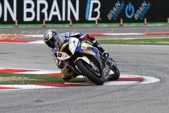 Marco Melandri #33 on BMW S1000 RR with BMW Motorrad GoldBet SBK Team Superbike WSBK. Marco Melandri #33 riding BMW S1000 RR with BMW Motorrad GoldBet SBK Team Stock Images