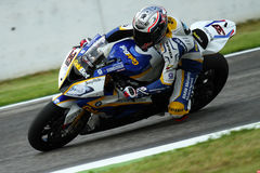 Marco Melandri #33 on BMW S1000 RR with BMW Motorrad GoldBet SBK Team Superbike WSBK stock photography