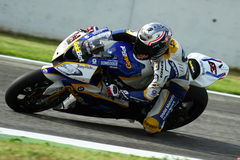 Marco Melandri #33 on BMW S1000 RR with BMW Motorrad GoldBet SBK Team Superbike WSBK royalty free stock photo