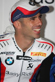 Marco Melandri BMW S1000 RR - BMW Motorsport. Marco Melandri rider BMW in the world Superbike Championship SBK Royalty Free Stock Images