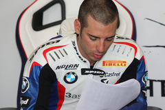 Marco Melandri BMW S1000 RR - BMW Motorsport Stock Photos