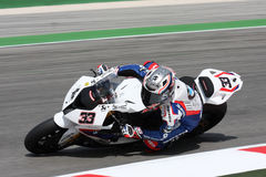Marco Melandri BMW S1000 RR - BMW Motorsport Royalty Free Stock Photos