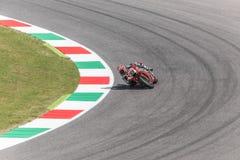 Marco Melandri op Officiële Aprilia MotoGP Stock Foto's
