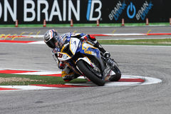 Marco Melandri #33 su BMW S1000 RR con BMW Motorrad GoldBet SBK Team Superbike WSBK Immagini Stock