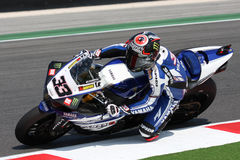 Marco Melandri - Yamaha R1 SBK Immagine Stock