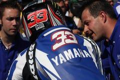 Marco Melandri - Yamaha R1 SBK Royalty Free Stock Images