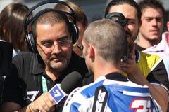 Marco Melandri - Yamaha R1 SBK Stock Image