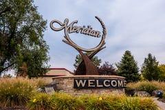 Marco meridiano de Idaho Foto de Stock Royalty Free