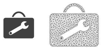 Marco Mesh Service Toolkit del alambre del vector e icono plano libre illustration