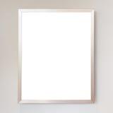 Marco metálico vacío aislado en blanco Ahorrado con la trayectoria de recortes Imagen de archivo libre de regalías