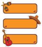 Marco mexicano divertido Imagen de archivo