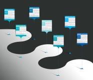 Marco miliário, o espaço temporal, molde passo a passo, infographic ilustração do vetor