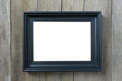 Marco moderno en la pared de madera Fotos de archivo