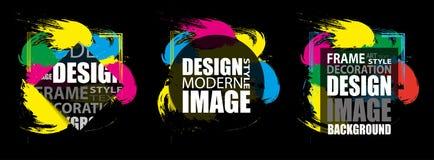 Marco moderno para el texto Elementos coloridos dinámicos del diseño Vector Foto de archivo libre de regalías