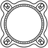 Marco monocromático de la frontera de la tarjeta ilustración del vector