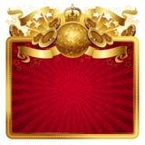 Marco musical de oro Imágenes de archivo libres de regalías