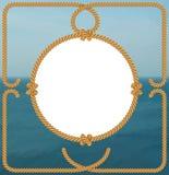 Marco náutico de la cuerda Foto de archivo libre de regalías