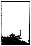 Marco negativo antiguo sucio de la foto Fotos de archivo libres de regalías