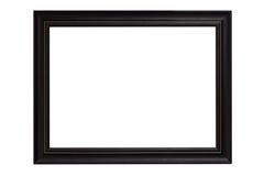 Marco negro aislado en el fondo blanco Fotos de archivo libres de regalías