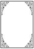 Marco negro con el ornamento Fotos de archivo