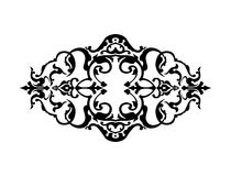 Marco negro con la decoración floral, ilustración del vector Imagenes de archivo