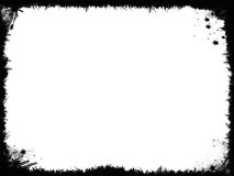 Marco negro de Grunge Foto de archivo