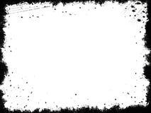 Marco negro de Grunge Fotografía de archivo