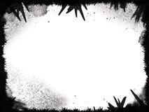 Marco negro de Grunge Fotos de archivo