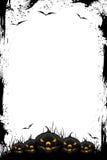 Marco negro de Grunge Víspera de Todos los Santos Imagen de archivo libre de regalías
