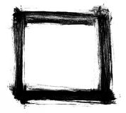 Marco negro de la acuarela Fotografía de archivo