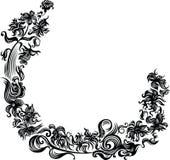Marco negro de la flor Imágenes de archivo libres de regalías