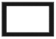 Marco negro de la foto Imagenes de archivo