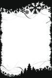 Marco negro de la Navidad Imagen de archivo
