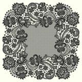 Marco negro del cordón del vector stock de ilustración