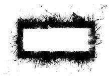 Marco negro del grunge Fotografía de archivo