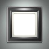Marco negro en la pared gris stock de ilustración