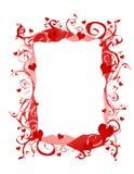 Marco o frontera abstracto de los corazones de la tarjeta del día de San Valentín Fotografía de archivo libre de regalías