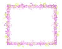 Marco o frontera de la vid de la flor del resorte Imagen de archivo libre de regalías