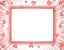 Marco o frontera de los corazones del día de tarjeta del día de San Valentín Imágenes de archivo libres de regalías