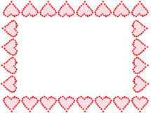 Marco o frontera del corazón de la tarjeta del día de San Valentín Imagenes de archivo