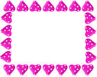 Marco o frontera del corazón de la tarjeta del día de San Valentín Foto de archivo libre de regalías