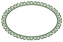 Marco o frontera oval en textura de la hierba Fotos de archivo libres de regalías