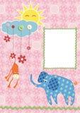 Marco o tarjeta del bebé Fotos de archivo