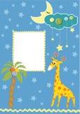 Marco o tarjeta del bebé Imagen de archivo libre de regalías