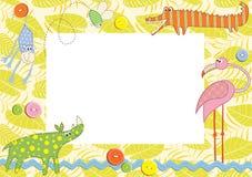 Marco o tarjeta del bebé Imágenes de archivo libres de regalías